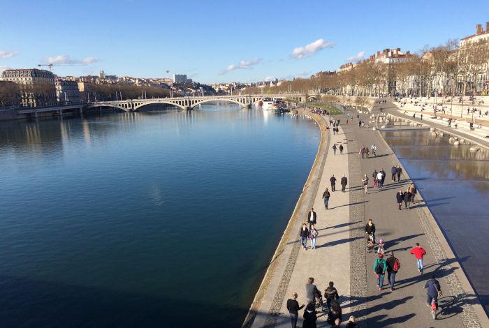 Lyon quais du Rhône